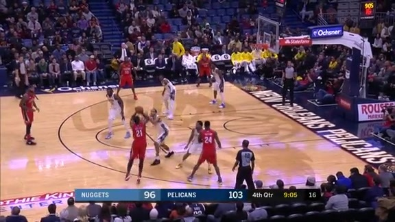 Darius Miller extends the lead with a three