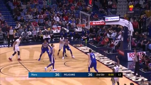 Cunningham puts the Pelicans in the lead