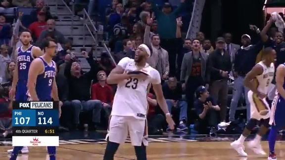 Pelicans extend the lead