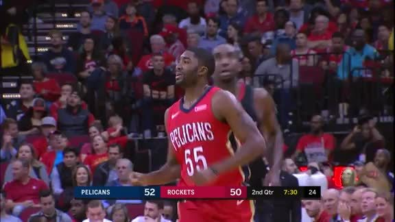 E'Twaun Moore makes six 3-pointers in first half vs. Rockets