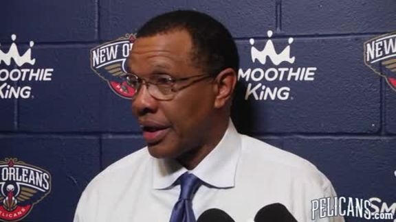 Pelicans-Knicks Postgame: Alvin Gentry 12-30-17