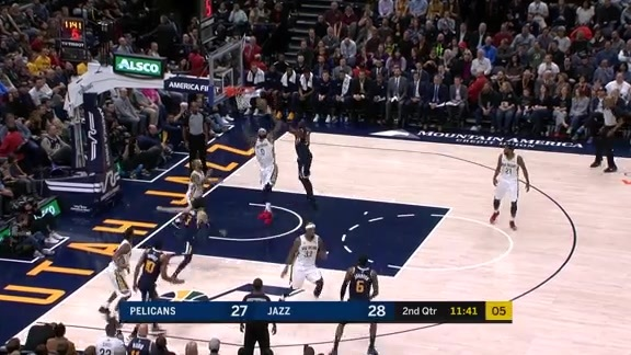 DeMarcus Cousins with 19 vs Jazz