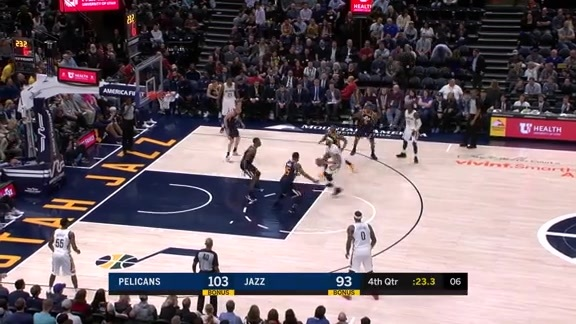 Pelicans with 14 3-pointers vs Jazz