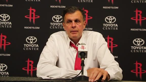 Kevin McHale: Post Game 10/28/15