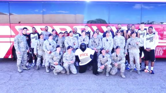 The Suns Visit Luke Air Force Base