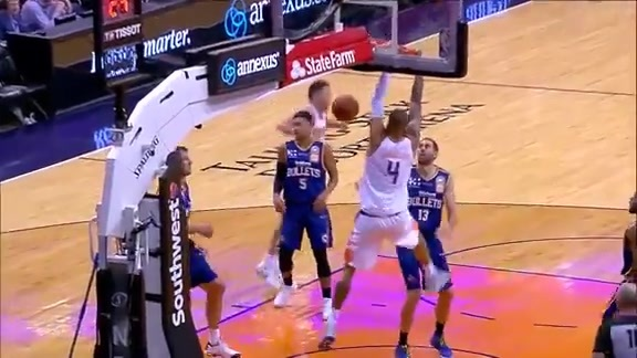 Chandler Throws Down Alley-Oop from Booker vs Brisbane