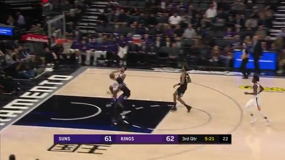 Mike James Throws Down Dunk on Fast Break vs Kings