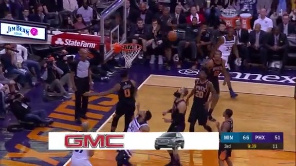 Marquese Chriss Swats Away Karl-Anthony Towns' Shot