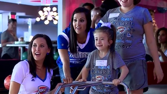 Thunder Girls, Special Olympics Go Bowling
