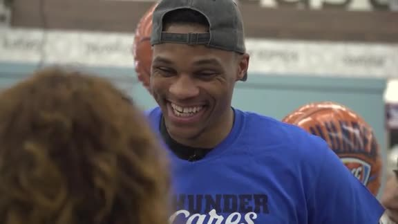 Russell Westbrook Delivers Surprise Shopping Spree