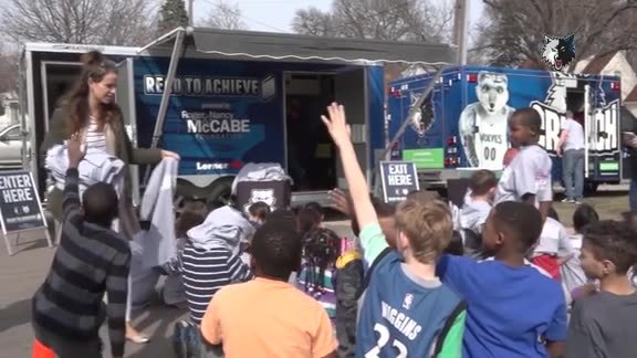 Timberwolves Book Mobile Continue To Grow Love For Reading