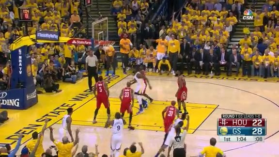 Andre Iguodala threw a first quarter SPLASH party