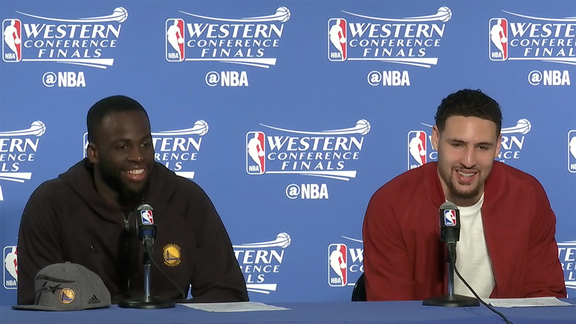 Postgame Warriors Talk - Green and Thompson 5.30.16
