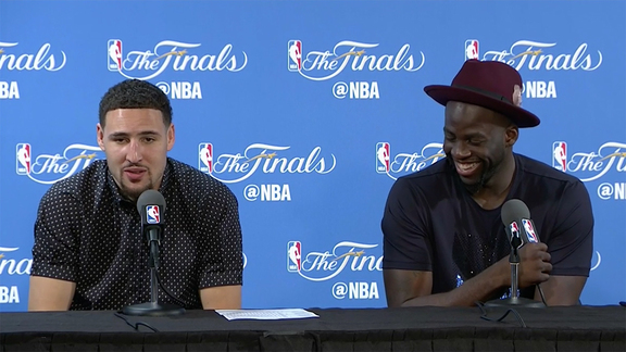 Postgame Warriors Talk - Thompson and Green 6.5.16