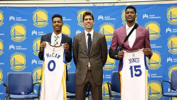 Warriors Introduce Jones and McCaw
