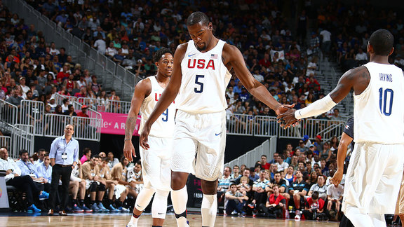 Durant Leads USA Basketball Past Argentina