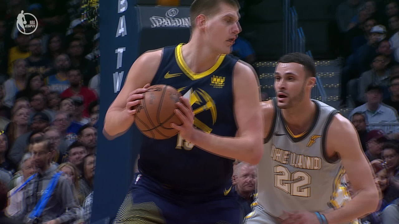Nikola Jokic Spins and Banks It In