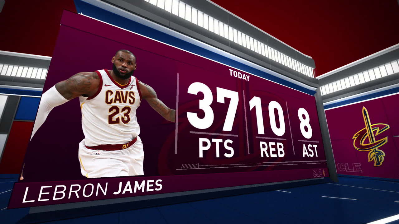 LeBron Scores 37, Cavs Beat Nets For 5th Straight Win