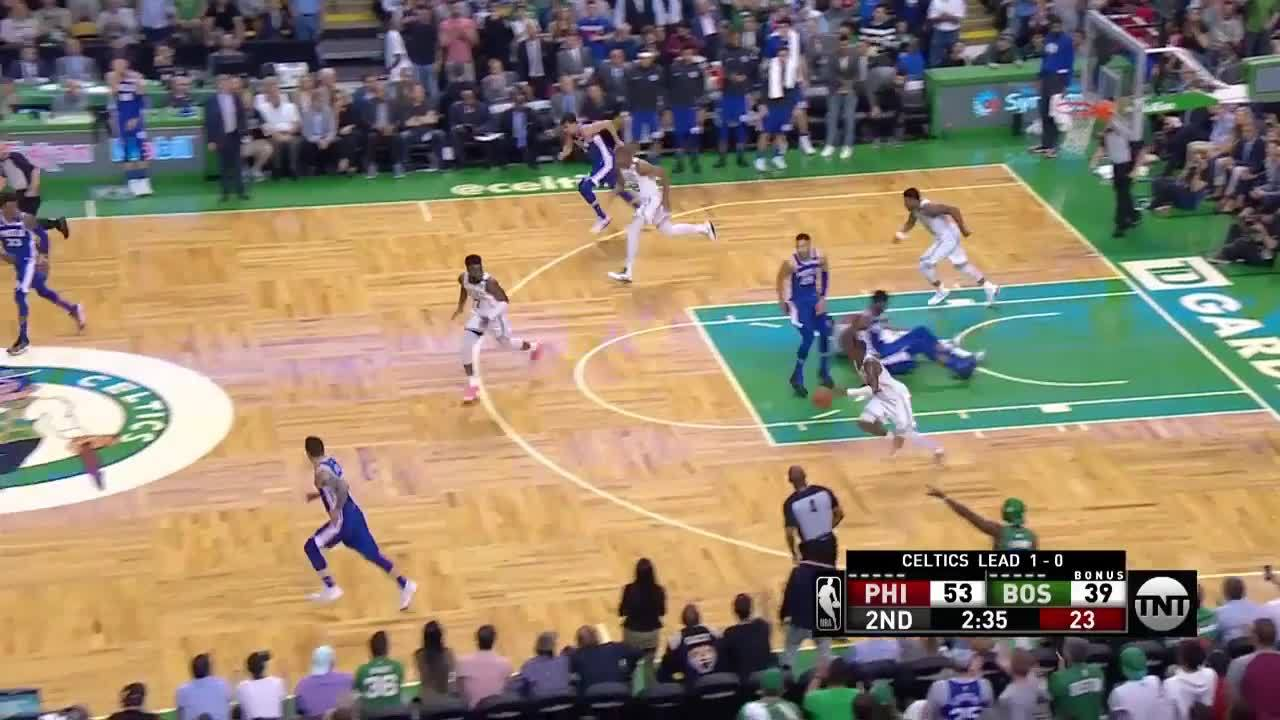 Rozier Euro Steps And Finishes At The Rim