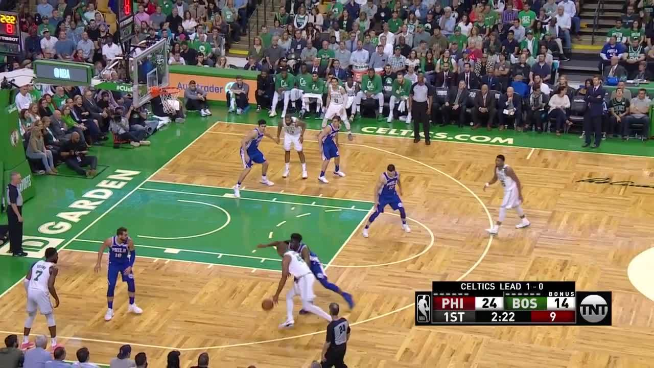 Horford With The And-One Finish