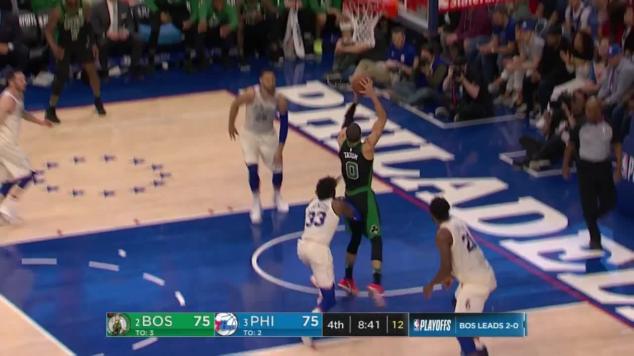 Tatum Drives In For The Flush