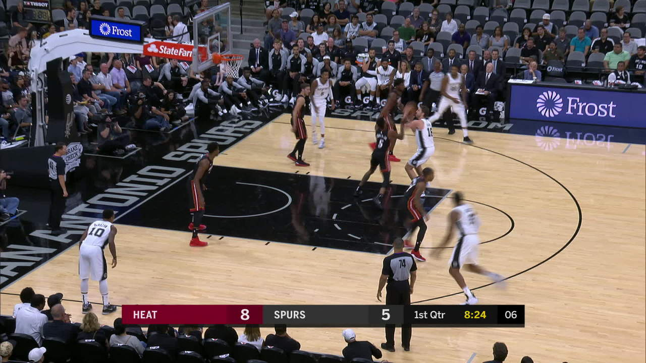 Whiteside euro-step lay-in