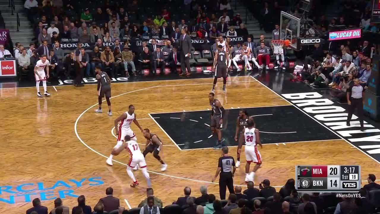 Adebayo leaps over defense for alley-oop vs. Heat