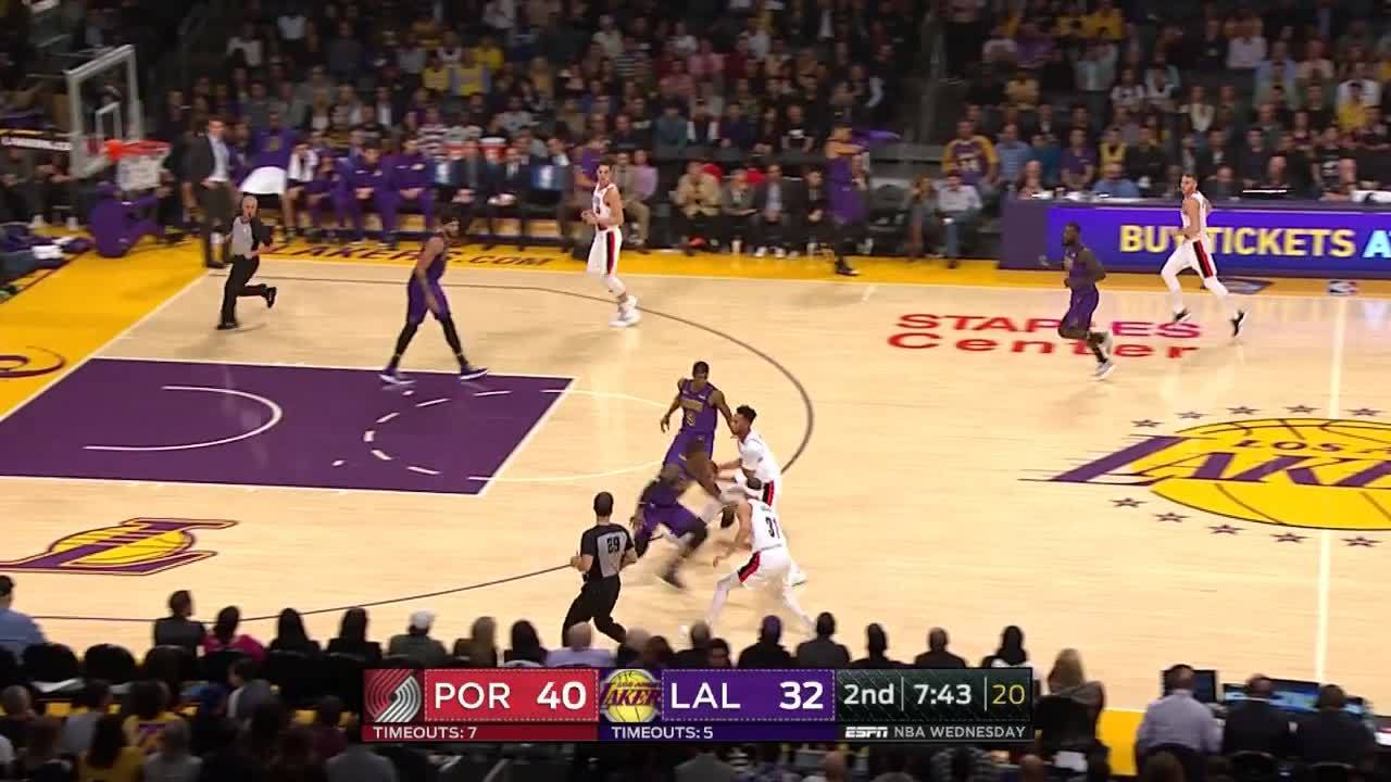 Evan Turner with the behind-the-back find