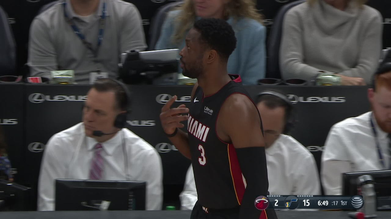 Dwyane Wade receives standing ovation from the Utah crowd