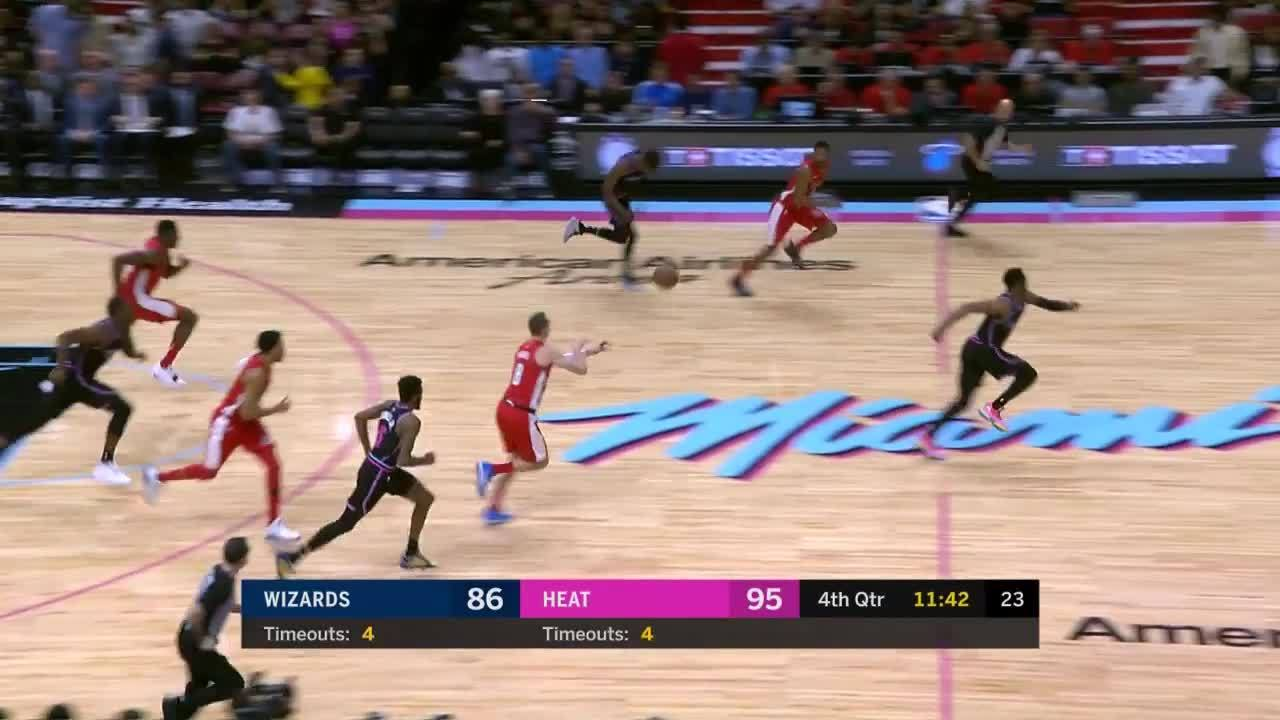 Josh Richardson chase-down block