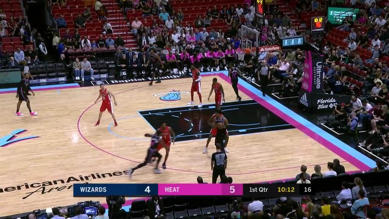 Hassan Whiteside drives inside for the slam