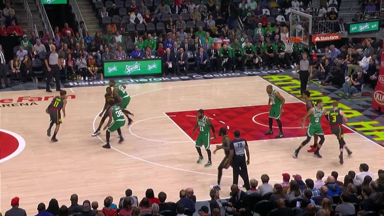 Young connects with Collins for the triple