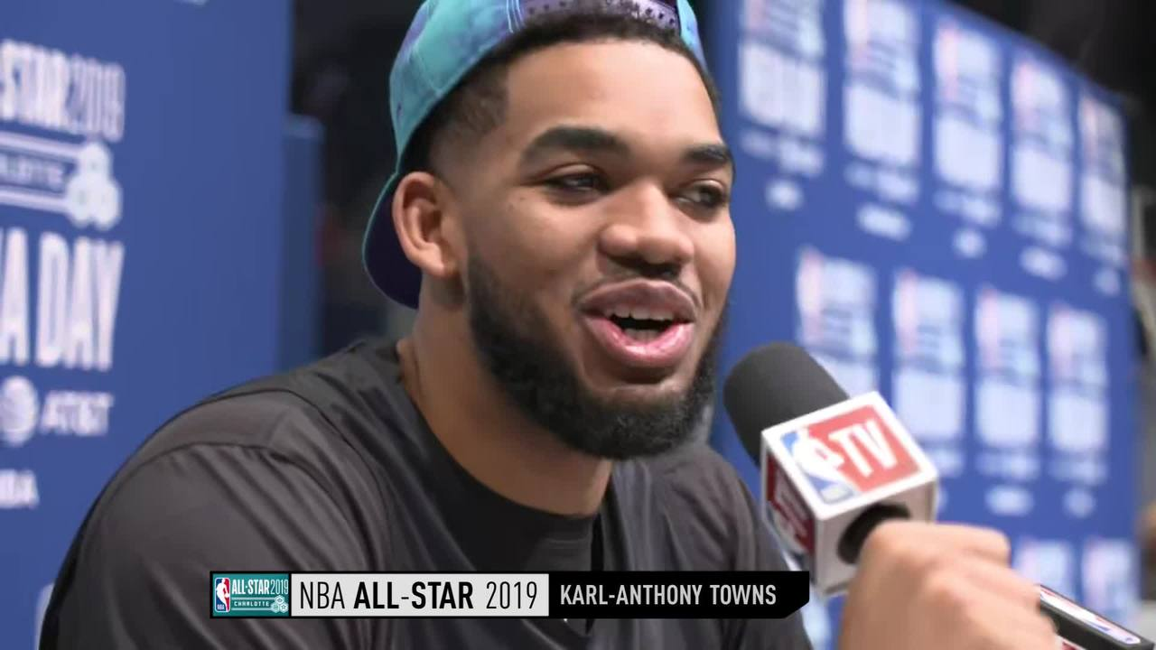 All-Star Media Day: Karl-Anthony Towns